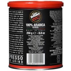 Καφές Espresso Vergnano Arabica 100% Αλεσμένος 250gr