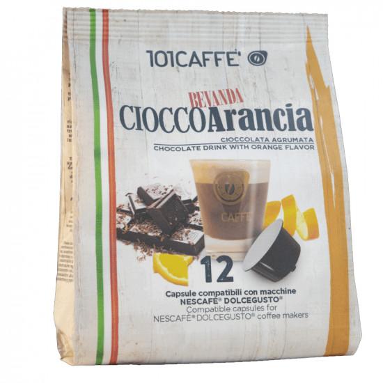 Κάψουλες Συμβατές Με Dolce Gusto 101Caffè CioccoArancia 12 Τεμαχίων