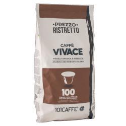 Κάψουλες Συμβατές Με Nespresso 101Caffè Vivace 100 τεμαχίων