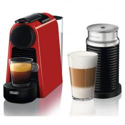 Μηχανή Espresso Nespresso System Delonghi EN85.RAE Essenza Mini Κόκκινο με Aeroccino